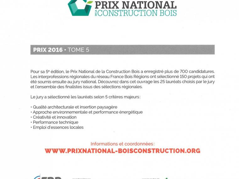 Edition Prix National de la Construction bois 2016 tome 5